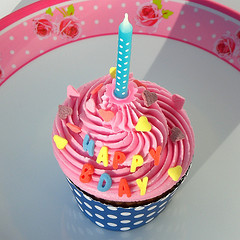 B-Day Cupcakes