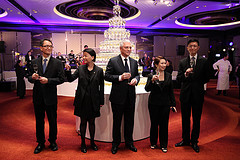 Mr. Jean-Jacques Reibel & Management team toasting to the audience