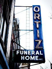 Williamsburg Funeral Home Sign