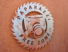 Paparzzi Free Zone Sign