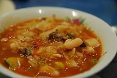 Cannellini, Mushroom, Leek, Celery, Carrot, Zucchini, Pasta Minestrone Soup