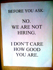 We are not hiring