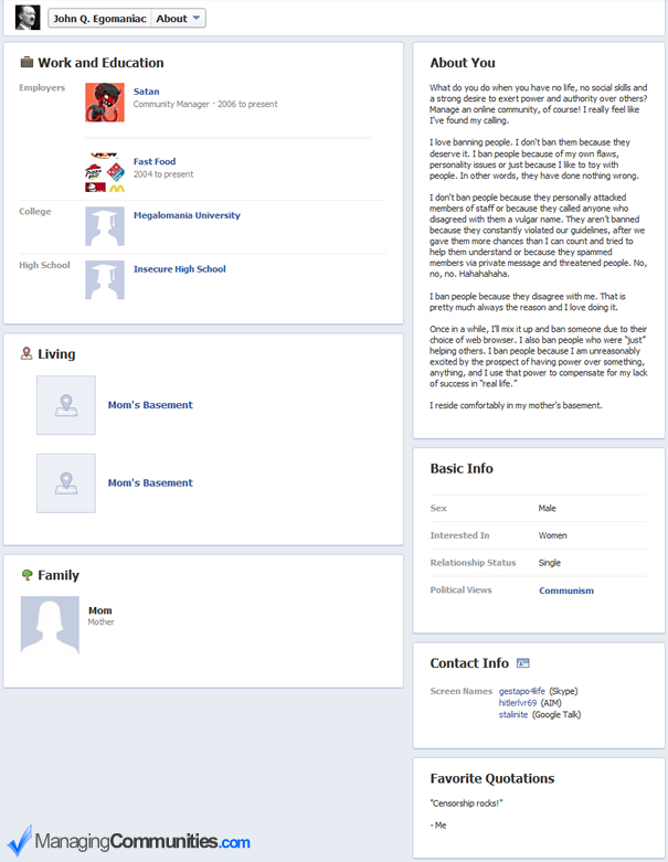 how to not get comment on facebook profile
