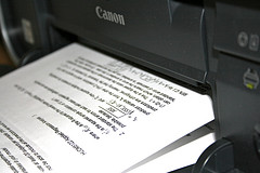 Canon printer in action