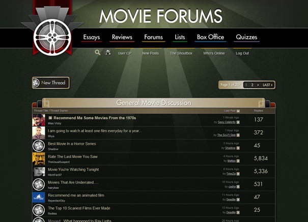 Movie Forums New Design