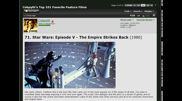 Movie Forums Old Design