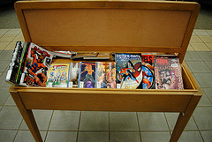 GRAPHIC NOVEL DISPLAY (front of back display)
