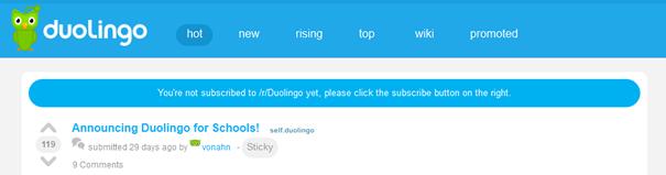 Duolingo Subreddit