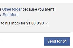 Facebook: Send for $1