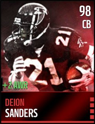 Level 98 Deion Sanders with +2 Awareness!